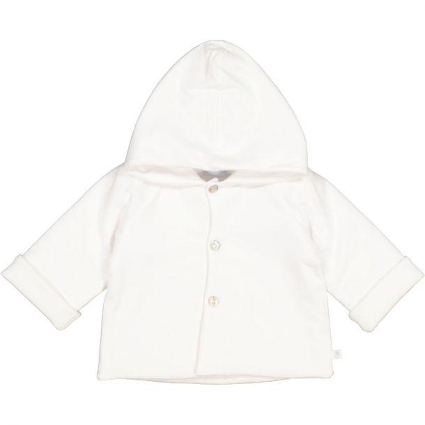 Babies White Jersey Jacket