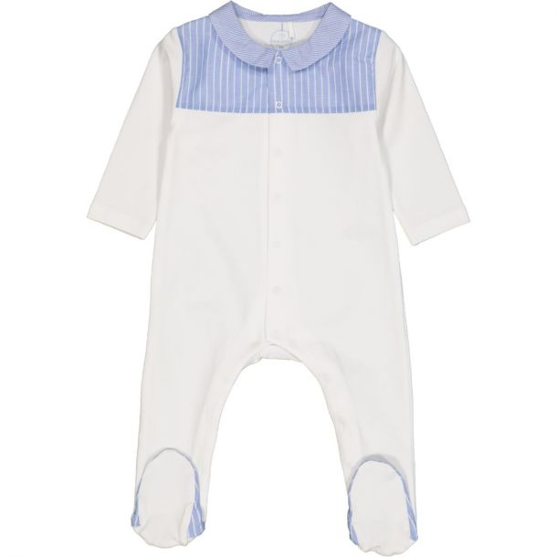 Baby Boys White Cotton Romper