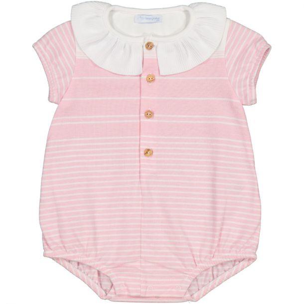 Baby Girls Pink Stripe Shortie