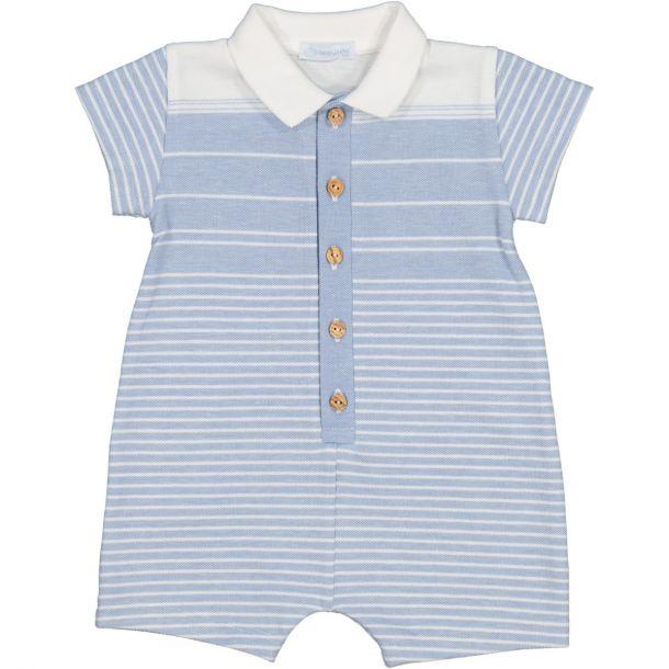 Baby Boys Blue Stripe Shortie