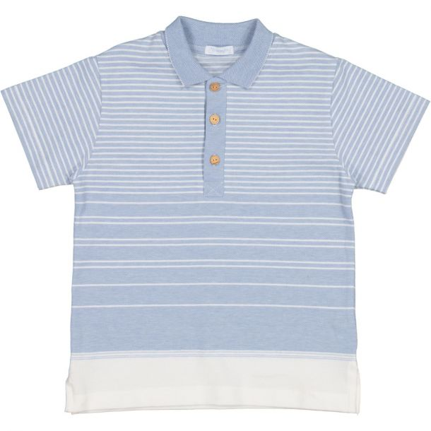 Boys Blue Stripe Polo Top