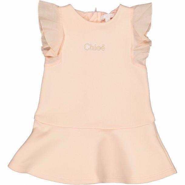 Baby Girls Pink Jersey Dress