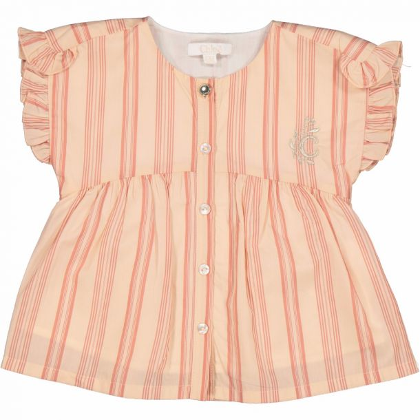 Baby Girls Striped Blouse