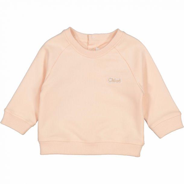 Baby Girls Pink Logo Sweat