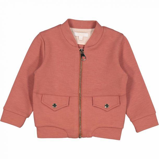 Baby Girls Pink Logo Zip Up