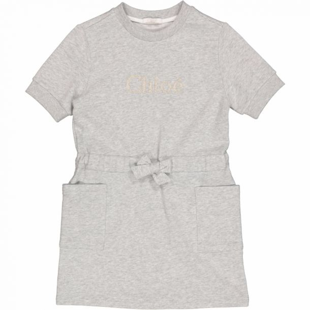 Girls Grey Logo Jersey Dress
