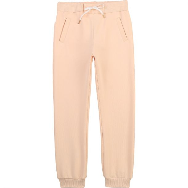 Girls Pink Branded Joggers