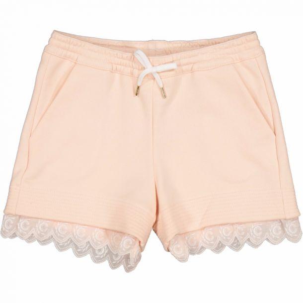 Girls Pink Logo Jersey Shorts