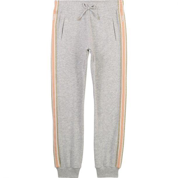 Girls Grey Cotton Joggers