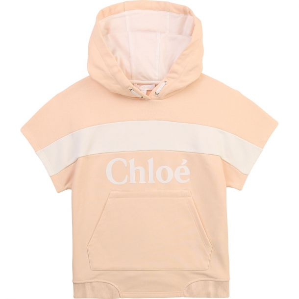 Girls Pink Logo Hoodie