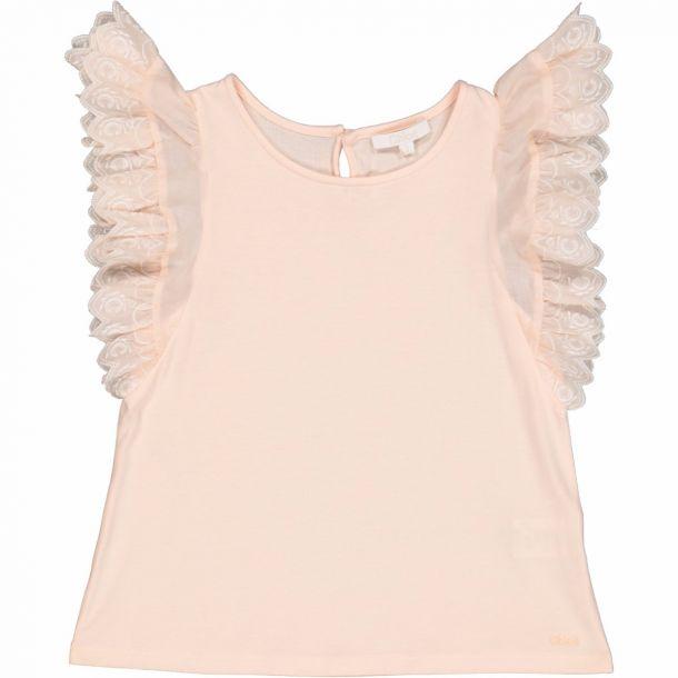 Girls Pink Cotton Top