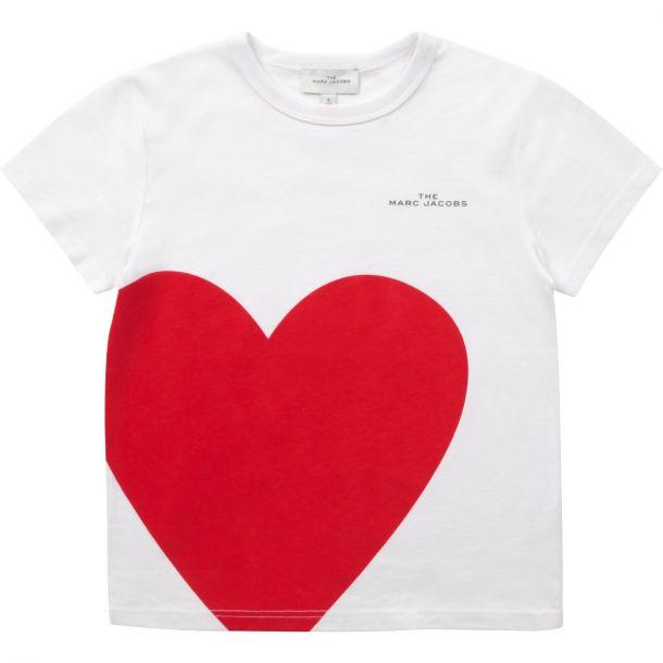 Girls Red Heart T-shirt
