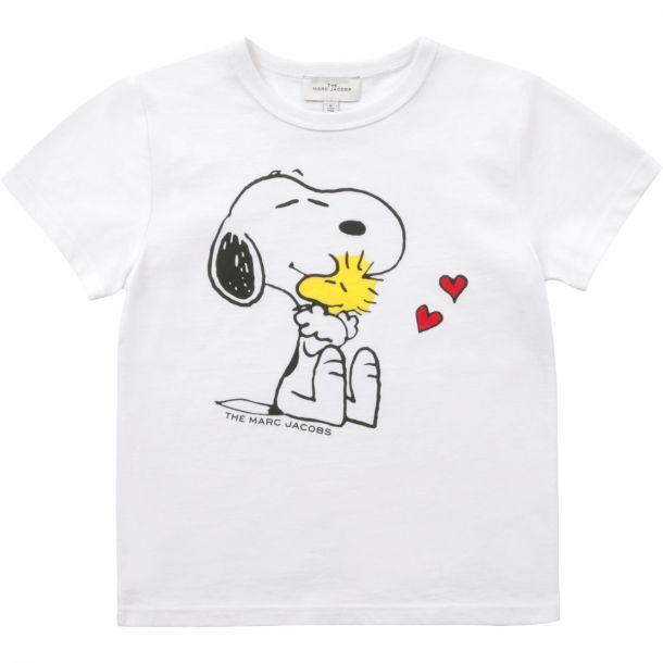 Girls White Snoopy T-shirt