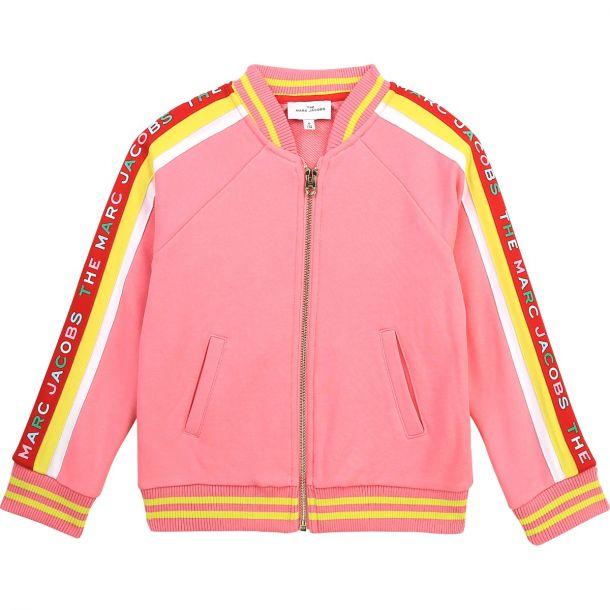 Girls Pink Logo Zip Up