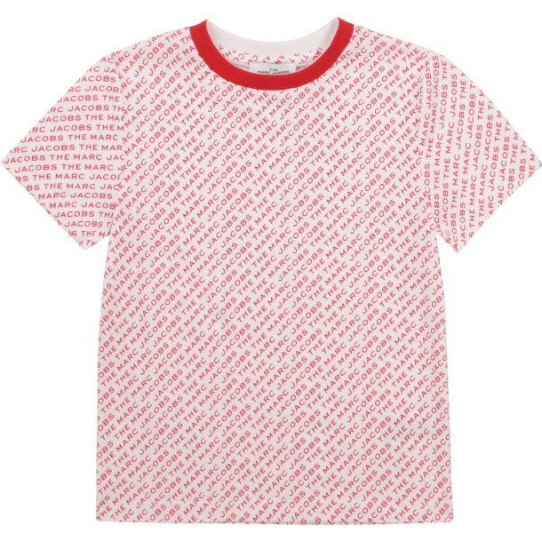 Boys White & Red Logo T-shirt