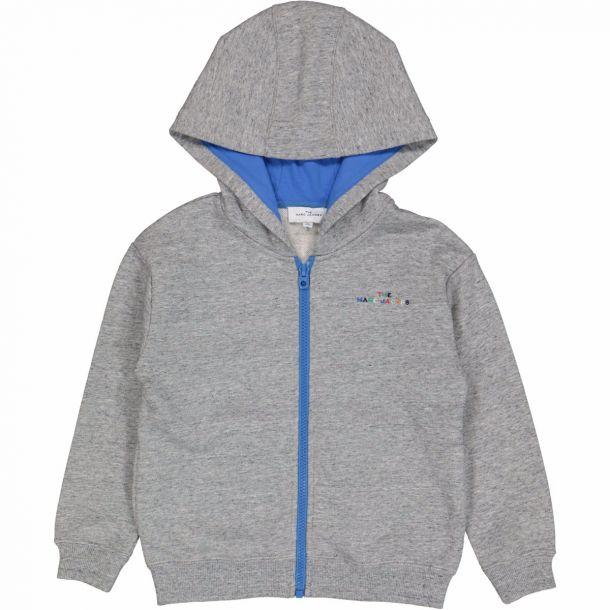Boys Grey Logo Zip Up