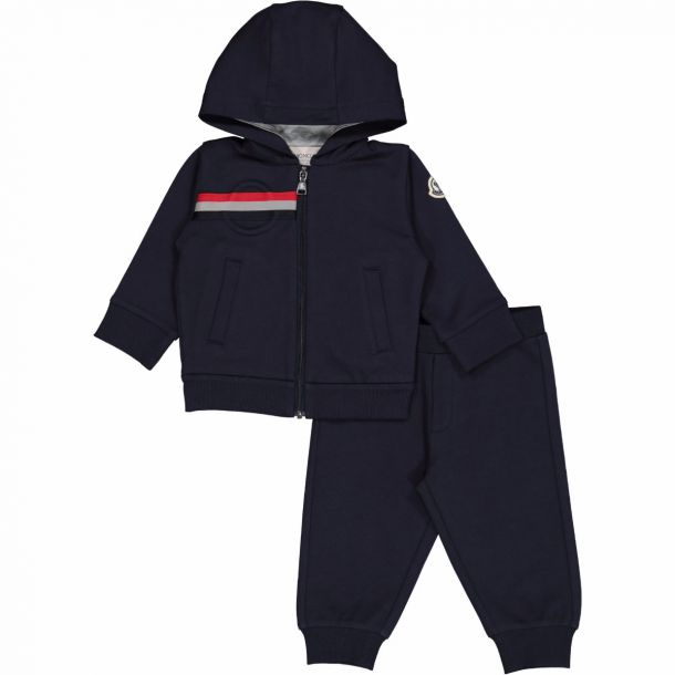 Baby Boys Navy Hooded Tracksut
