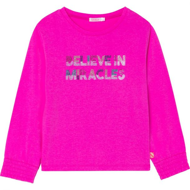 Girls Pink 'miracles' T-shirt