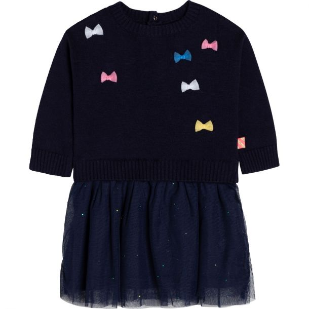 Baby Girls Knit & Tulle Dress