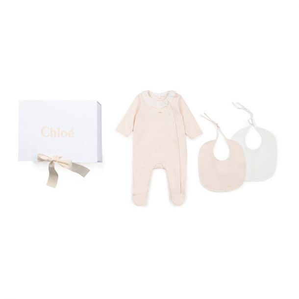 Baby Girls Romper & Bibs Set