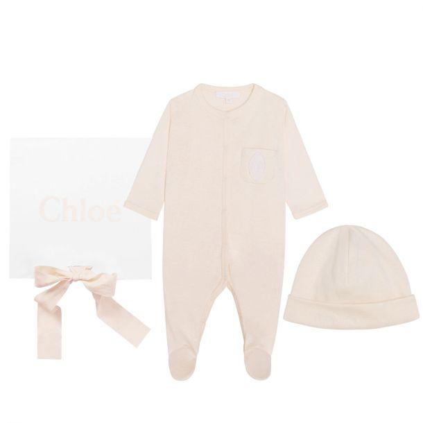 Baby Girls Romper & Hat Set