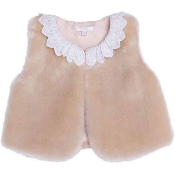 Baby Girls Faux Fur Gilet