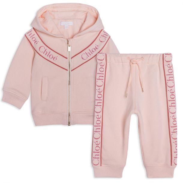 Baby Girls Pink Logo Tracksuit