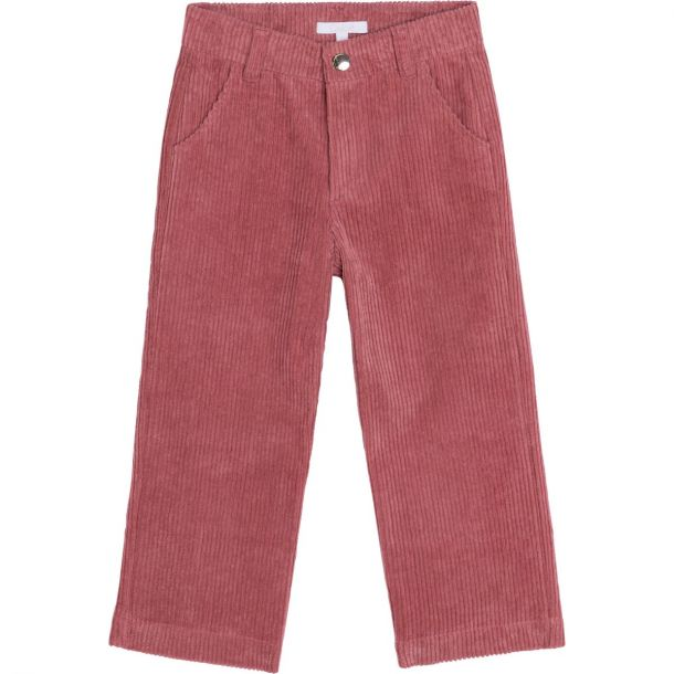 Girls Pink Cord Trousers