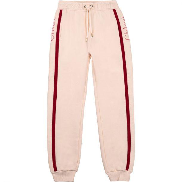 Girls Pink Jersey Joggers