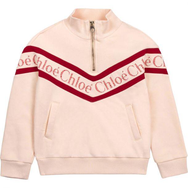 Girls Pink Logo Sweatshirt