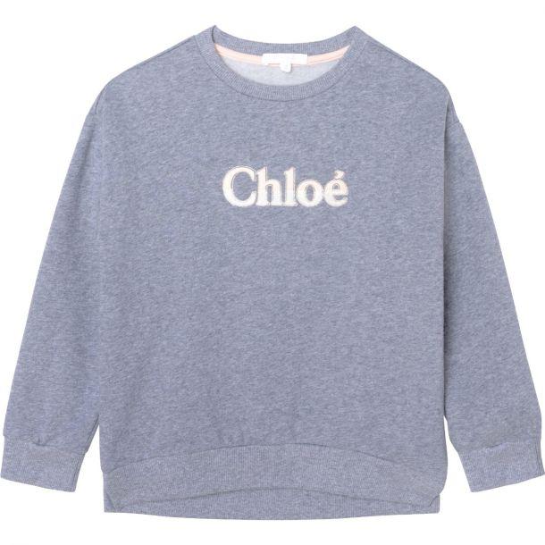Girls Grey Logo Sweatshirt