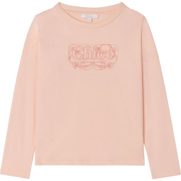 Girls Pink Logo T-shirt