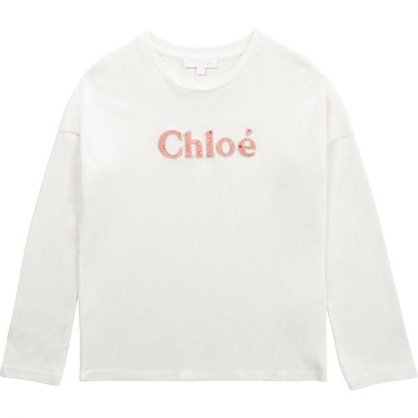 Girls White Logo T-shirt