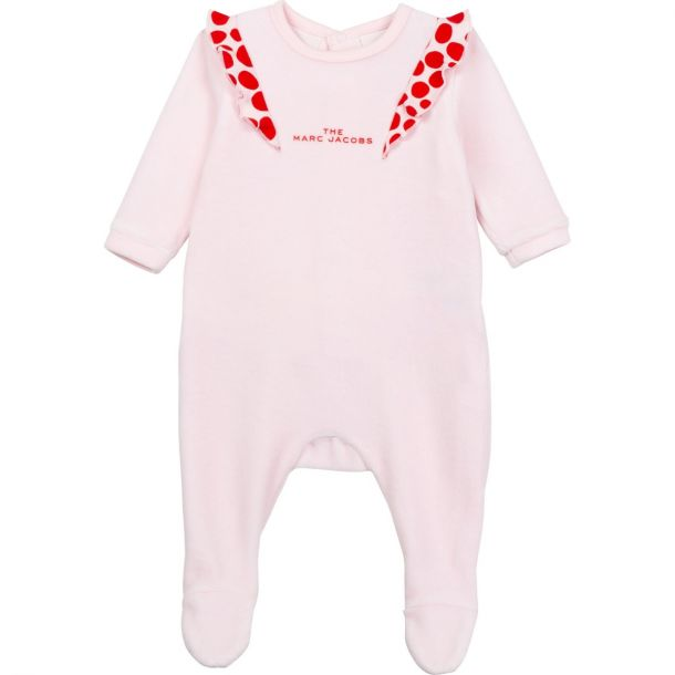 Baby Girls Pink Logo Romper