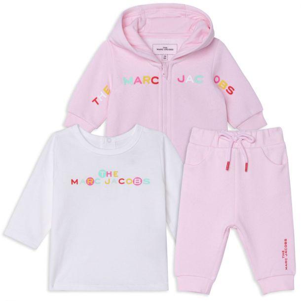 Baby Girls Pink Tracksuit Set