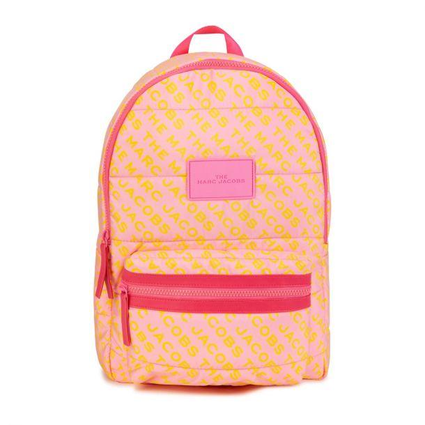 Girls Pink Logo Backpack