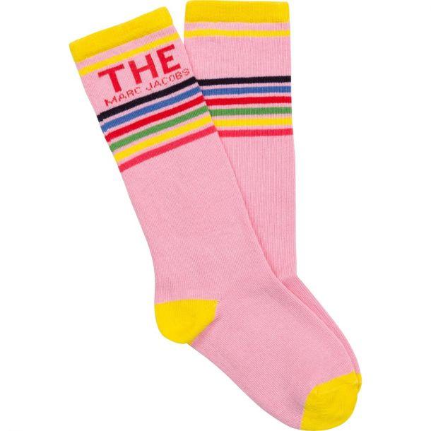 Girls Pink Logo Socks