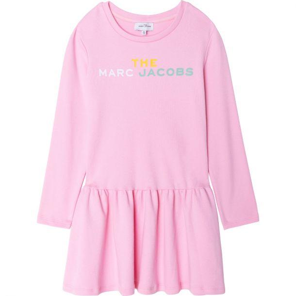 Girls Pink Logo Jersey Dress