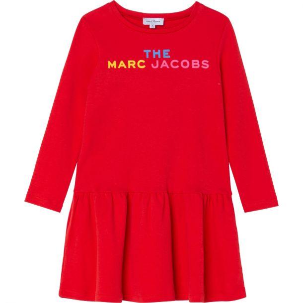Girls Red Logo Jersey Dress