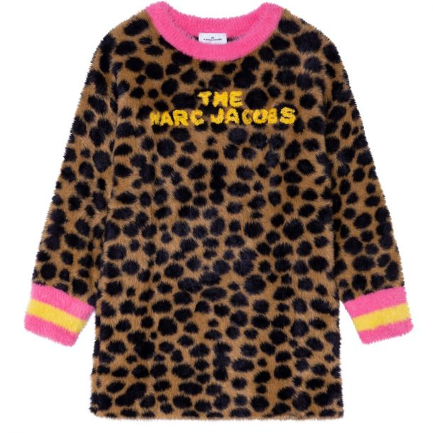 Girls Animal Faux Fur Dress