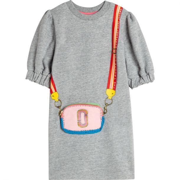 Girls Grey Jersey Dress