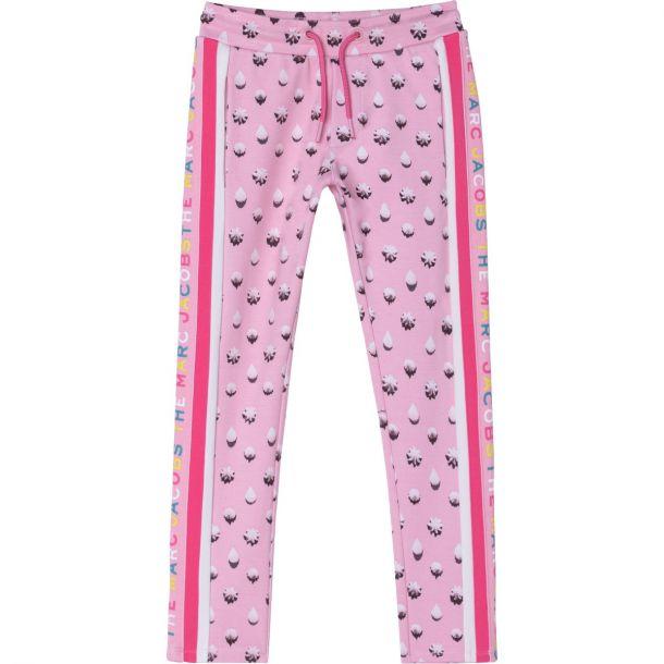 Girls Pink Logo Joggers