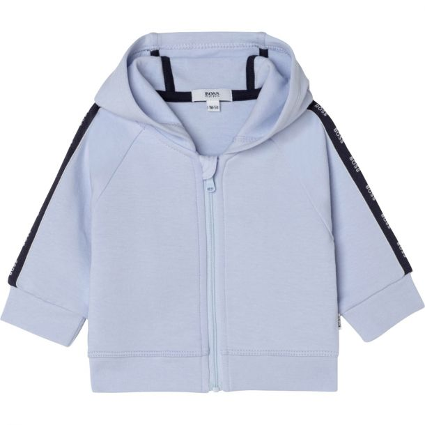 Baby Boys Blue Hooded Zip Up