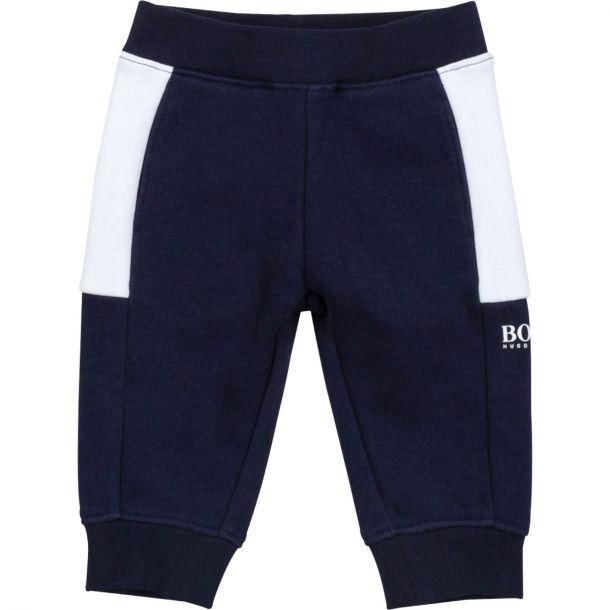 Baby Boys Navy Branded Joggers