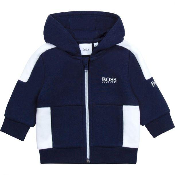Baby Boys Navy Logo Zip Up