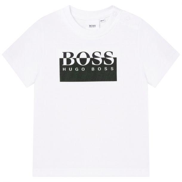 Baby Boys White Logo T-shirt