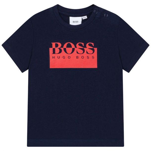 Baby Boys Navy Logo T-shirt