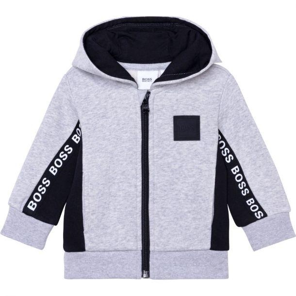 Baby Boys Grey Logo Zip Up
