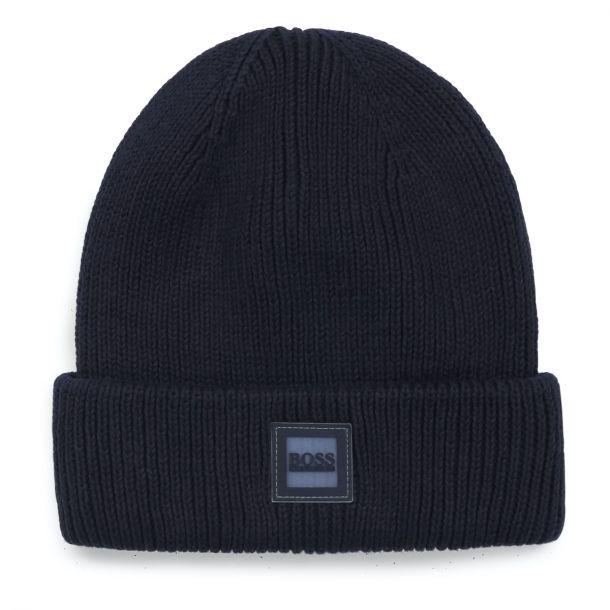 Boys Navy Knit Beanie Hat