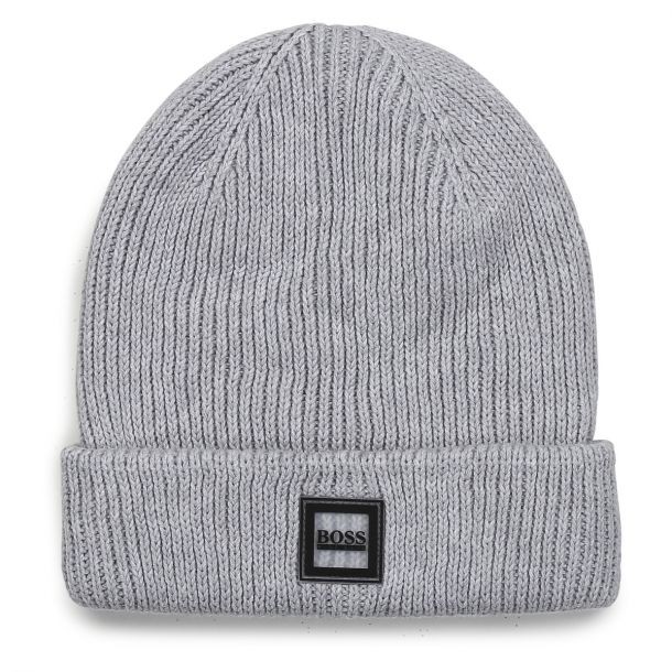 Boys Grey Knit Beanie Hat